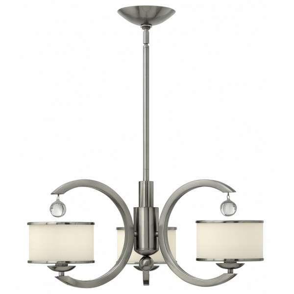 Lampa wisząca MONACO z miejscem na trzy źródła światła to dobre rozwiązanie dla Twojego domu. #mlamp #oświetlenie #zwis #żyrandol #nikiel #wystrój #wnętrz