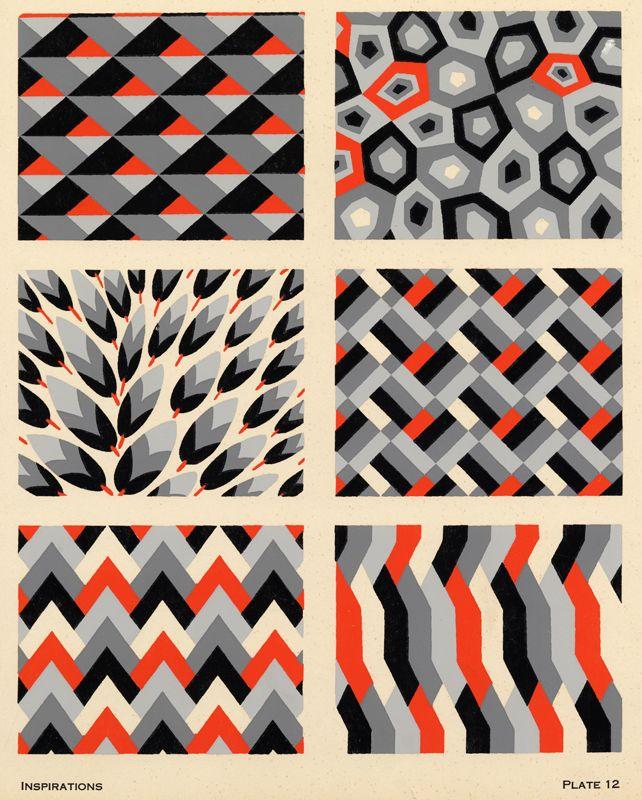 Art Deco Pattern, c1928, André Durenceau, Hans Carl Perleberg