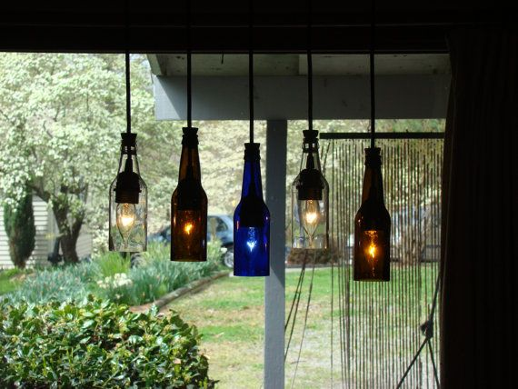 Beer Bottle Light--great for a deck!: Beer Bottle