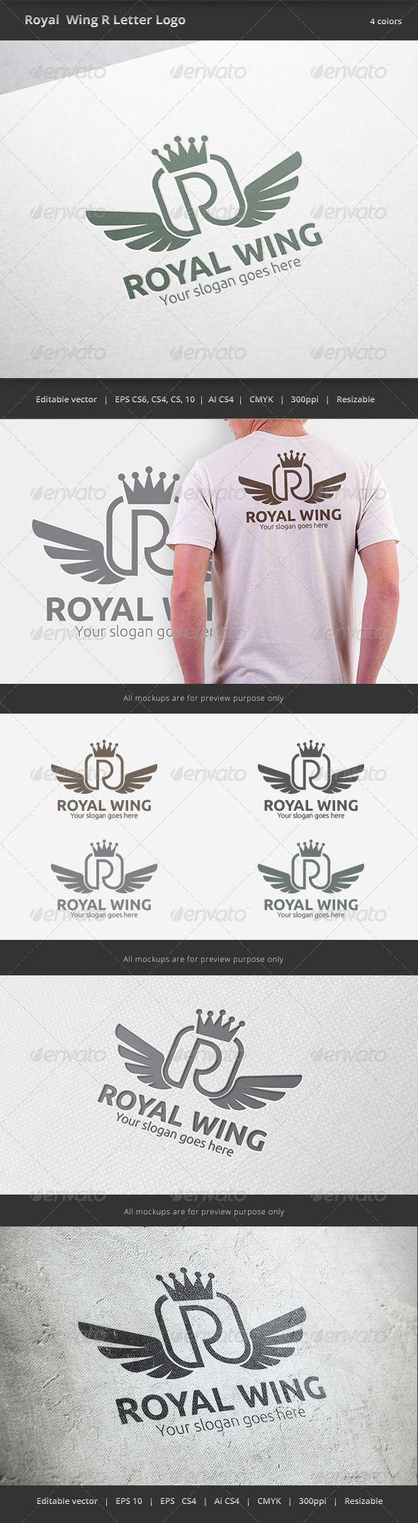 Royal Wing Letter R Logo (Letters)