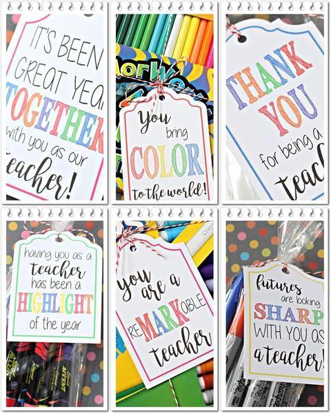 20 FREE Printable Teacher Supply Gift Tags
