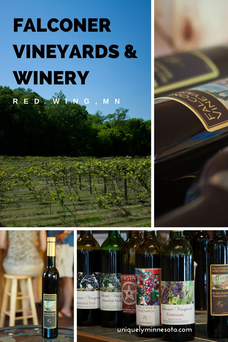 Falconer Vineyards and Winery in Red Wing, MN offers cold hearty wines and wood-fired pizza. Plan a visit during a Red Wing weekend getaway.