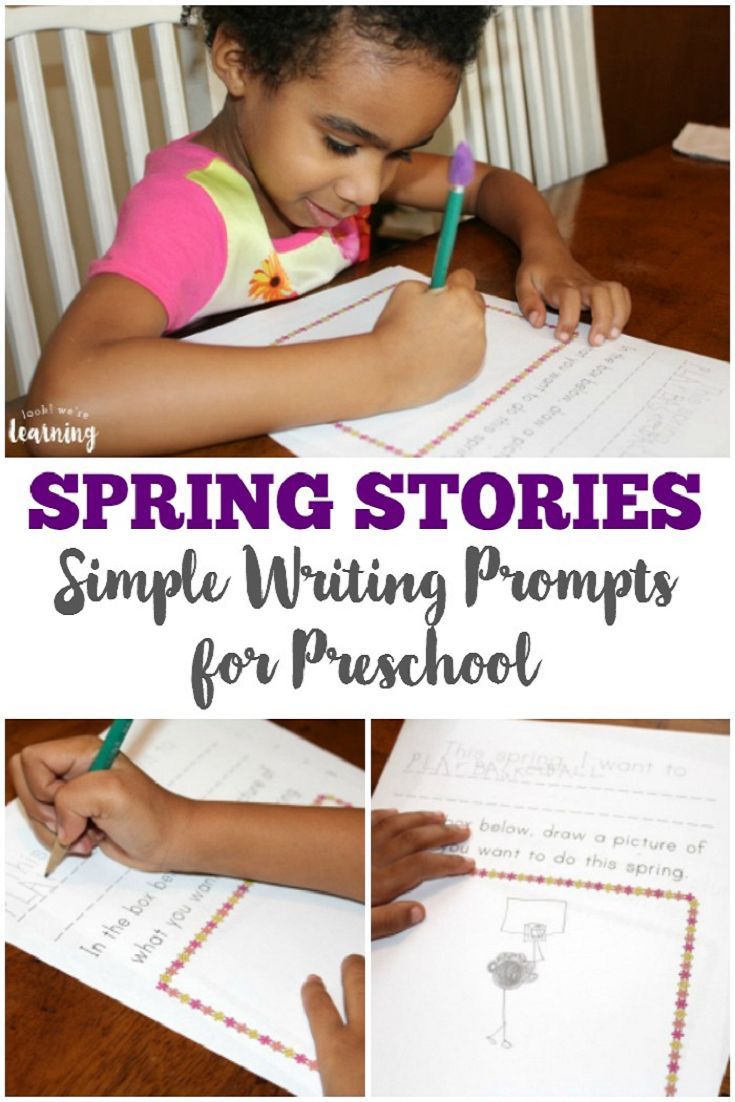 Spring Worksheets for Kids: Spring Preschool Story Prompts