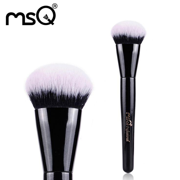 Msq make-up pinsel runde abgewinkelt foundation pinsel kunsthaar blending bilden kosmetik pinsel pro produkt einzelnen make-up pinsel