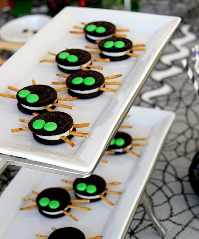 Make adorable Oreo Spiders for Halloween using this easy, no-bake treat recipe.