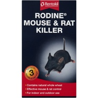 Rodine Mouse and Rat Killer is a Rentokil anticoagulant rodenticide poison containing Bromadiolone. This product is suitable for treating both rats and mice. It can be used within the home and in the garden to control rodents.