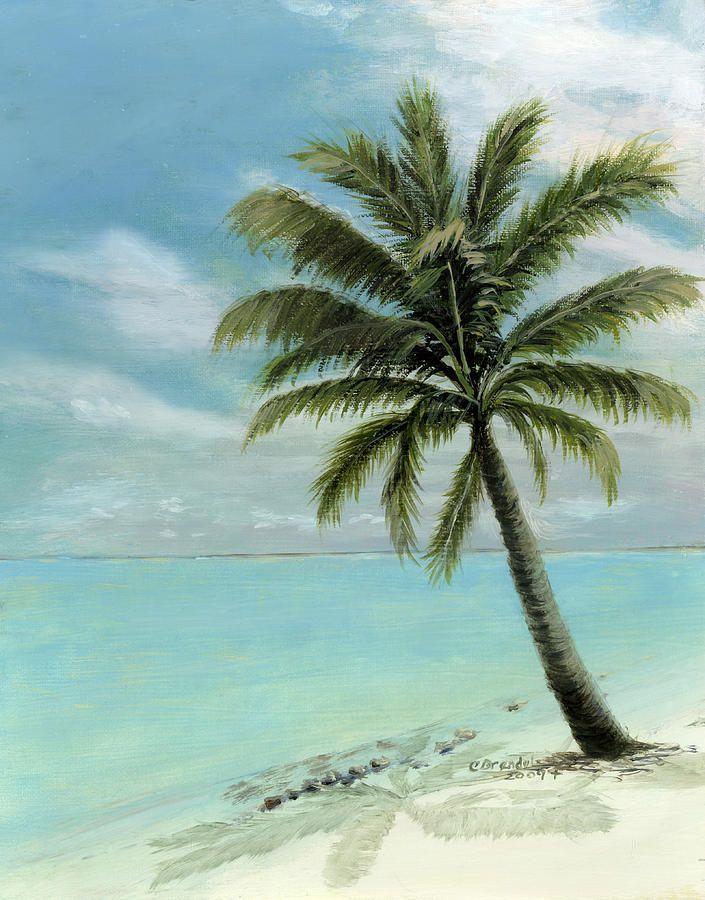Palm Tree Study Painting