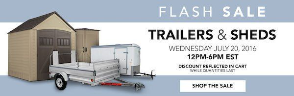 #Lowes_Canada: [Lowes] Sheds & Trailers Flash Sale - 15% off http://www.lavahotdeals.com/ca/cheap/lowes-sheds-trailers-flash-sale-15/106720