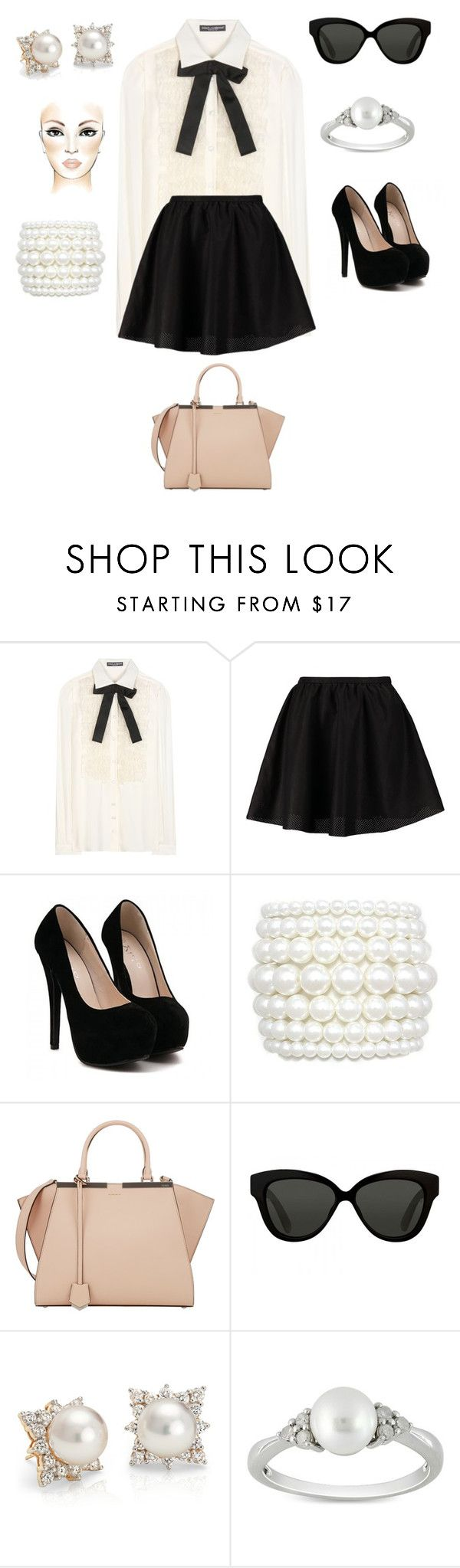 """""""Uptown"""" by amanda-j-burke on Polyvore featuring Dolce&Gabbana, ONLY, Fendi, Linda Farrow, Blue Nile and Ice"""