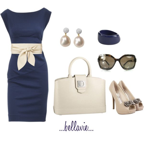 Classy: Shoes, Colors Combos, Style, Audrey Hepburn, Work Outfits, The Dresses, The Navy, Cream, Belts
