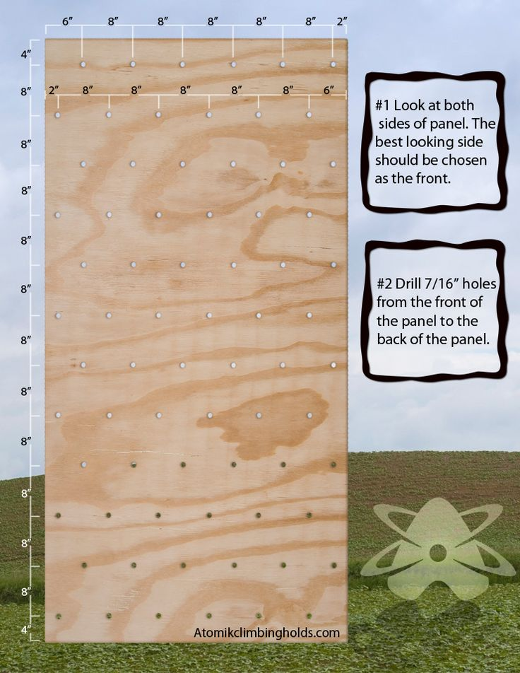 How to build a climbing wall.   I've been watching too much American Ninja Warrior.