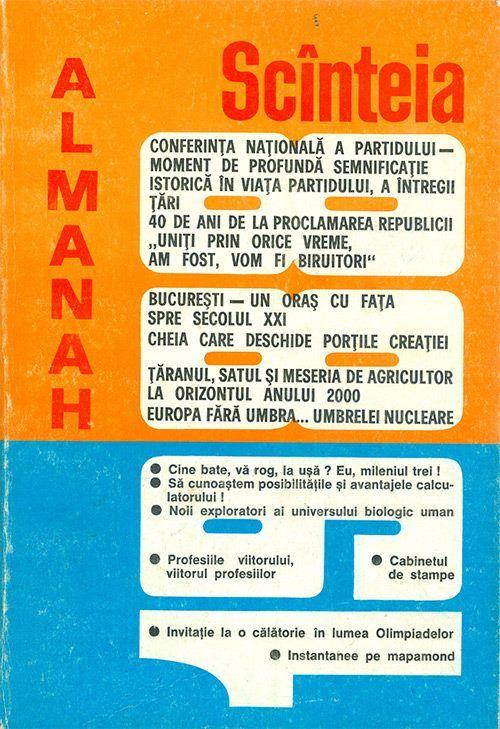 Coperta Almanah Scinteia 1988