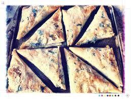 Crispy spinach,almond and filo rolls!