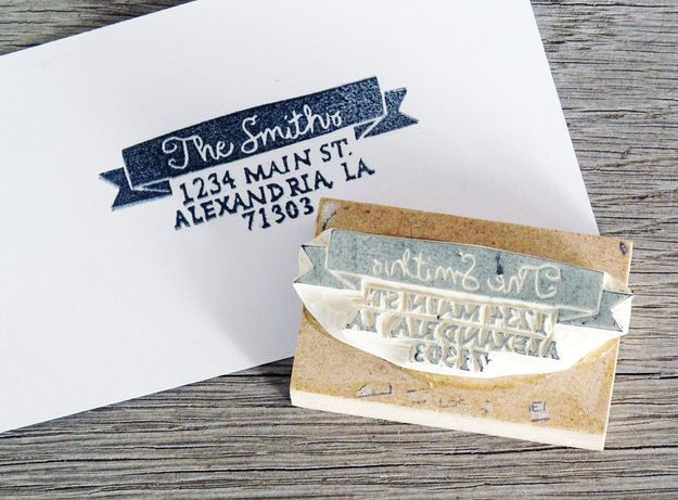 Personalized Address Stamp | Community Post: 18 Wedding Gifts For Someone You Don't Really Know