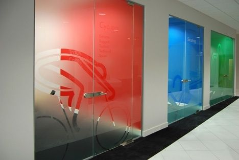 http://www.vinylimpression.co.uk/pages/custom-wall-stickers - frosted manifestation for office pod branding. Wall and window graphics are the cheapest way to decorate your office.