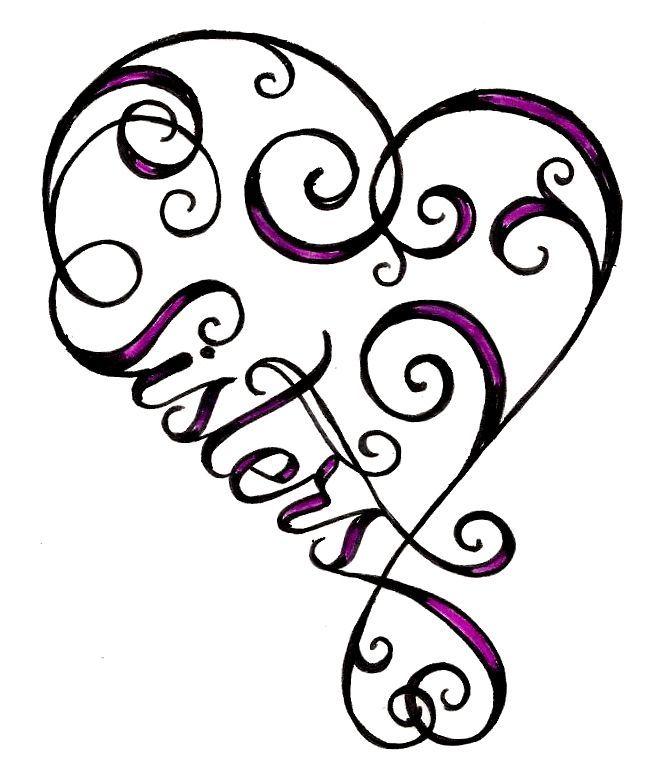 heart sister tattoo - ClipArt Best - ClipArt Best