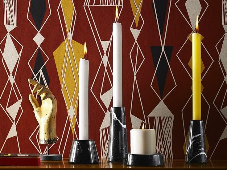 Decospot | Candlesticks & Lanterns | Atipico Tellus Carrara Candlesticks. Available at decospot.be webshop.