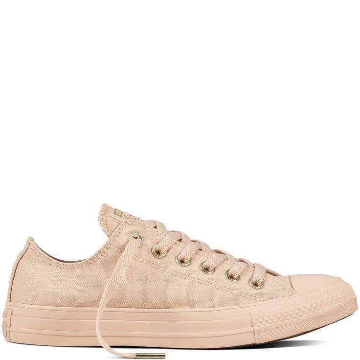 Peach Gold Converse Beige Glam Low Top Wedding Chuck Taylor Apricot Customized w/ Swarovski Crystal Rhinestone Jewels All Star Sneakers Shoe by GlassSlippersCC on Etsy https://www.etsy.com/listing/241656223/peach-gold-converse-beige-glam-low-top