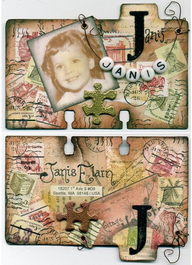 Altered Rolodex for Tinka   Index Card Art   Rolodex, Atc