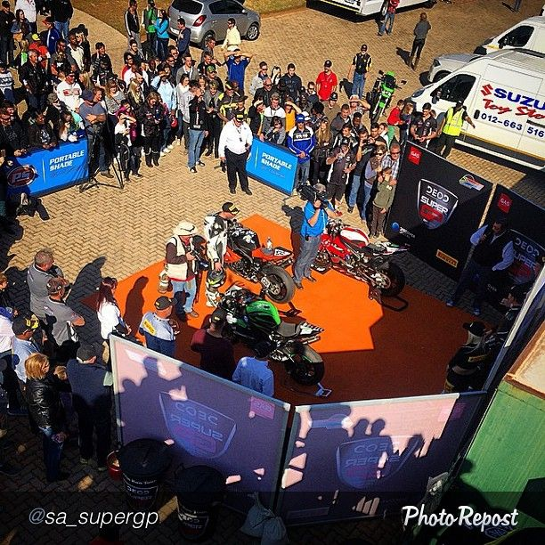 "@sa_supergp ""Podium for #Super600 race 1 - Follow the race via #LiveStream - www.superGP.co.za #TinRunTour #SuperBikeSunday #DEOD #Pirelli #NGLLogistic #DiscoverDigital #PortableShade"" via @PhotoRepost_app"
