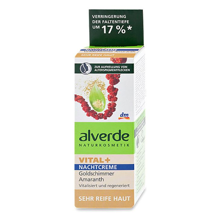 ALVERDE Natural Cosmetics VITAL Plus Night Cream Gold Shimmer Amaranth 50 ml | BG Choco Shop
