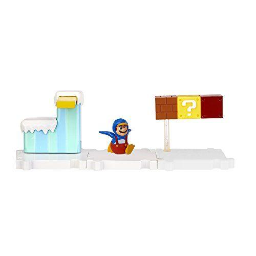 Nintendo – JAKKNIN019FGPM – World of Nintendo Micro Land Playset – Frosted Glacier avec Penguin Mario Figure: Recréer vos niveaux de jeux…