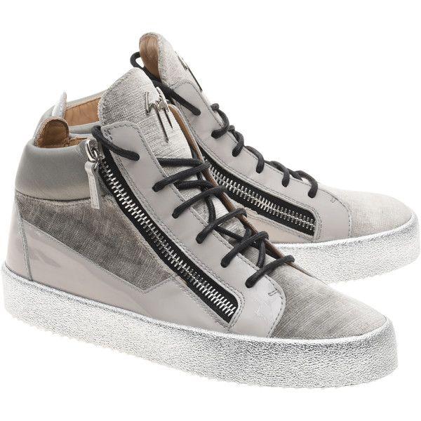 GIUSEPPE ZANOTTI Zanotti D-Sneaker // Velvet high-top sneakers (2.705 RON