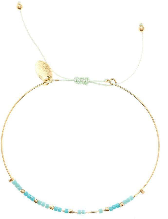 Caroline Najman Alexandra - Bracelet jonc - doré et turquoise