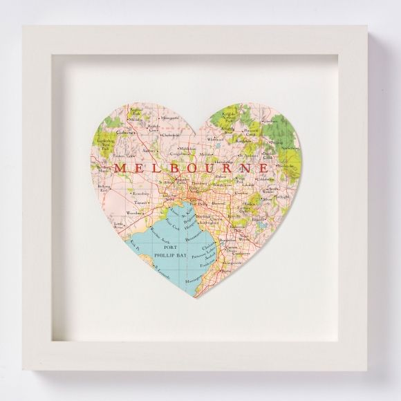 Best 25 melbourne map ideas on pinterest melbourne map of melbourne map heart print gumiabroncs Image collections