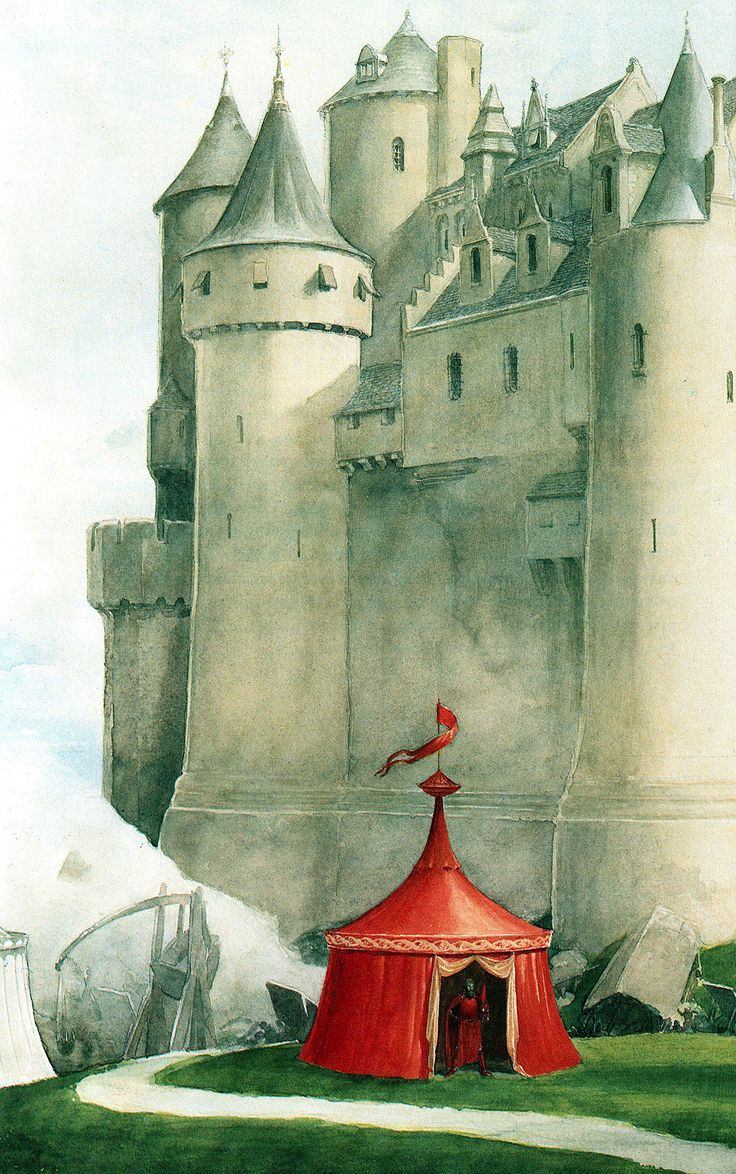 alan_lee_castles_castle perilous03.jpg (1003×1600) I love Alan Lee's work so much I actually cried at the credits at the end of Hobbit 3!