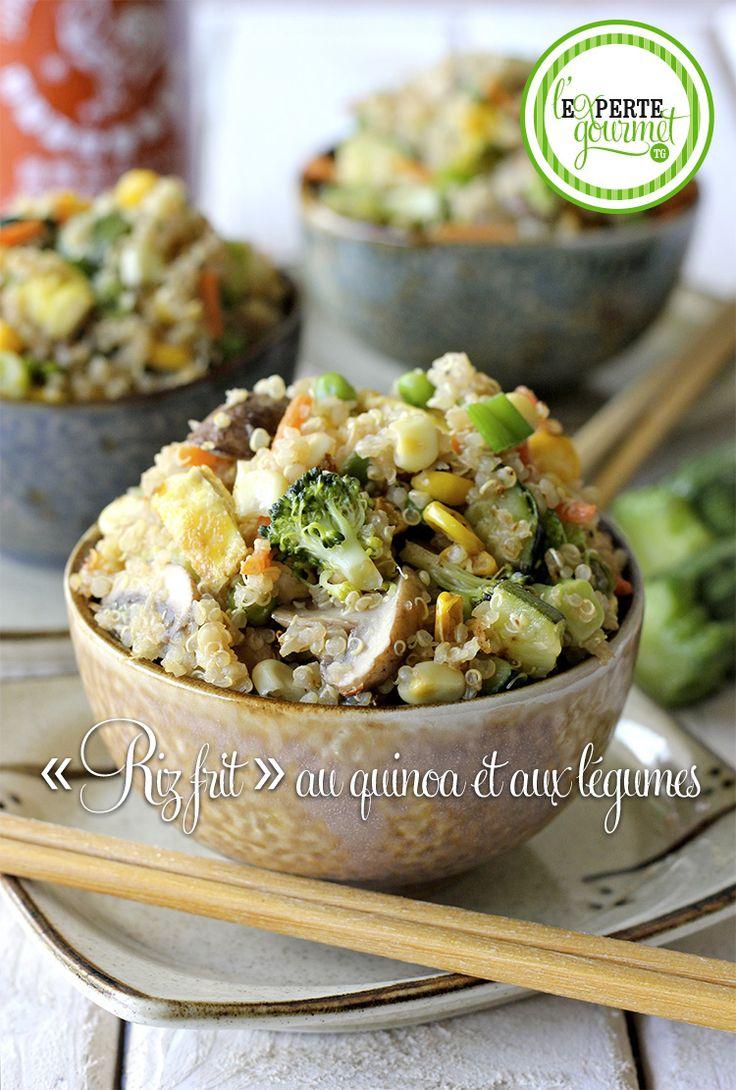 « Riz frit » au quinoa et aux légumes - L'Experte gourmet TG réinvente le riz frit. Les nombreux bienfaits du quinoa ne sont plus un secret pour personne et je l'utilise à toutes les sauces. Quoi de mieux pour mettre un peu de vie dans vos recettes?