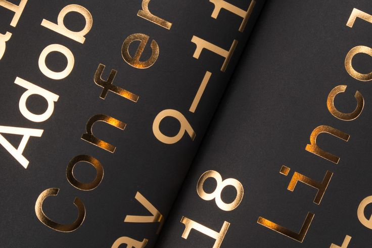 Gold-embossed typography in NNU Magazine Issue No.15, art directed by Mark Brooks