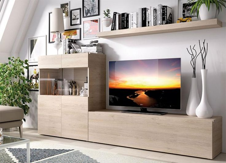 Rimobel Duo Modern Wall TV Unit System with Cabinet, TV Unit and Shelf