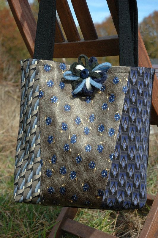 don't usually like the necktie items, but Ilike this one's color!       Handmade Upcycled Necktie Handbag - ArnicArt on Etsy