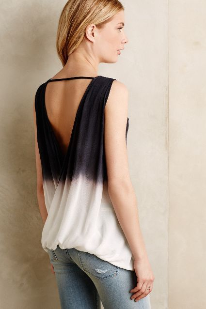 Dip-Dyed Open Back Tank - anthropologie.com