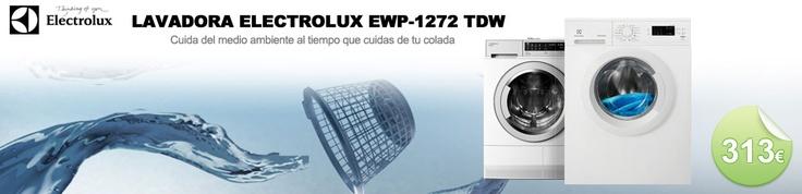 Lavadora carga frontal Electrolux EWP1272TDW, 1200rpm, 7kg
