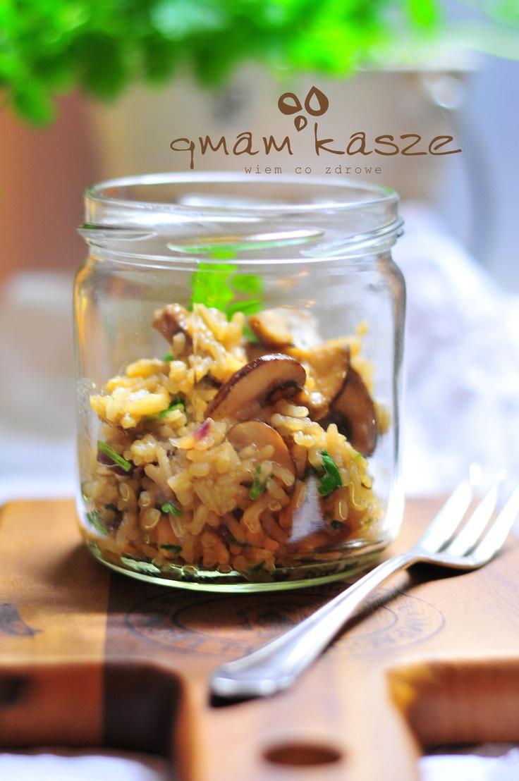 Grey mushrooms rissotto