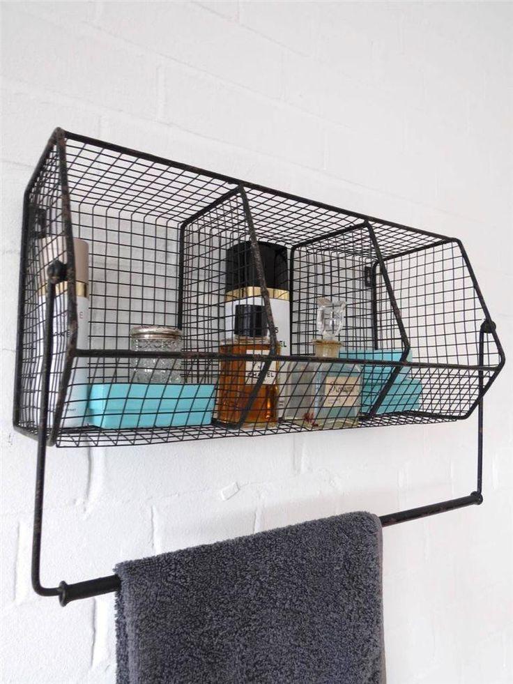 Kitchen Storage Metal Wire Wall Rack Shelving Display Shelf Industrial Black