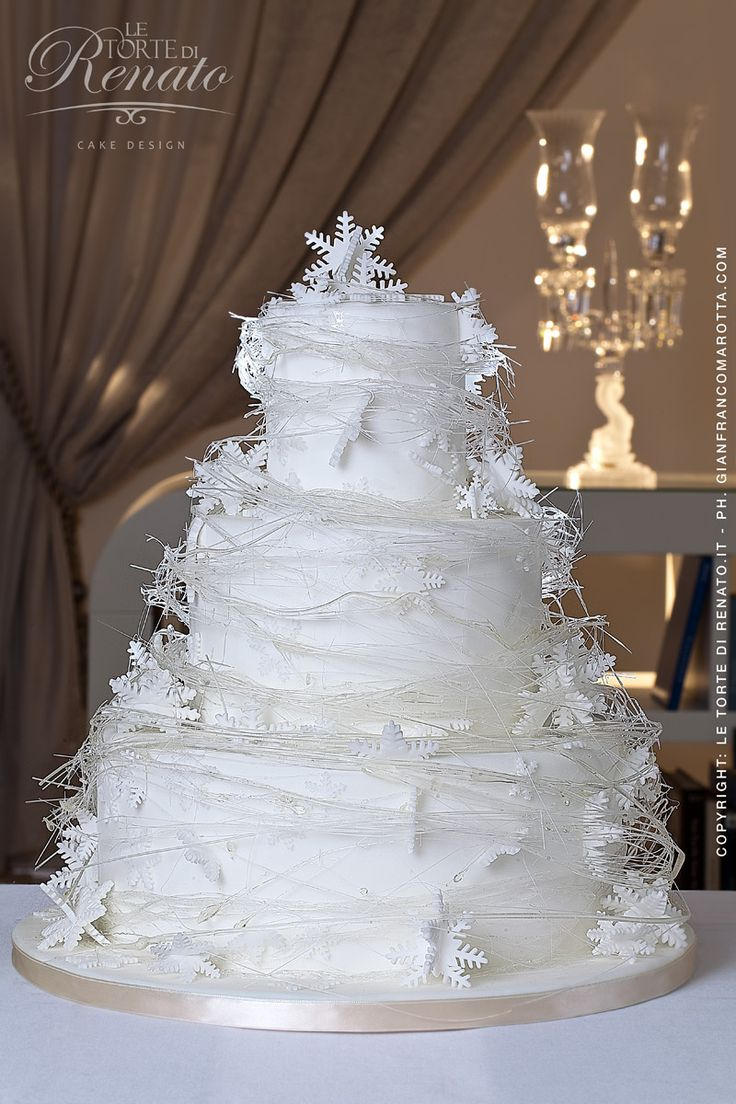 54 best winter wedding cakes and cupcakes images on pinterest gorgeous winter wedding cake from cakes by renato in salerno italy junglespirit Gallery