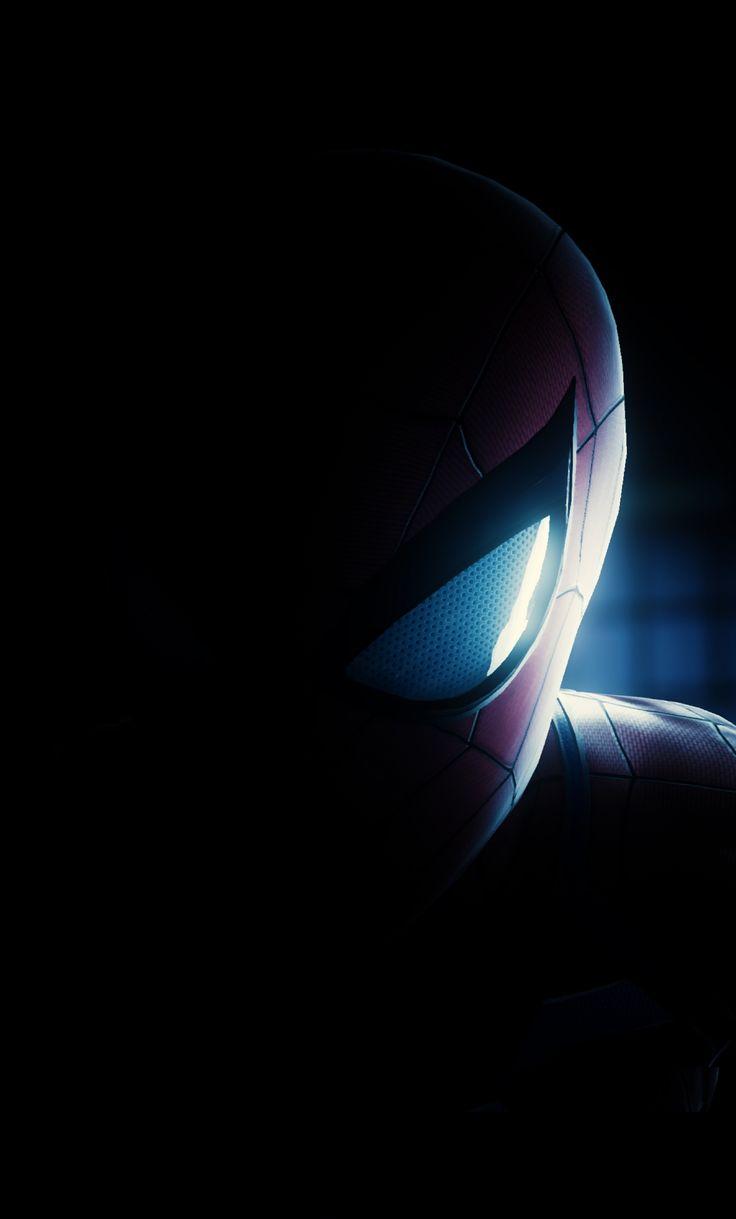 Spider Man Half Mask Artwork Dark 1280x2120 Wallpaper Spiderman Superhero Wallpaper Marvel Comics Wallpaper