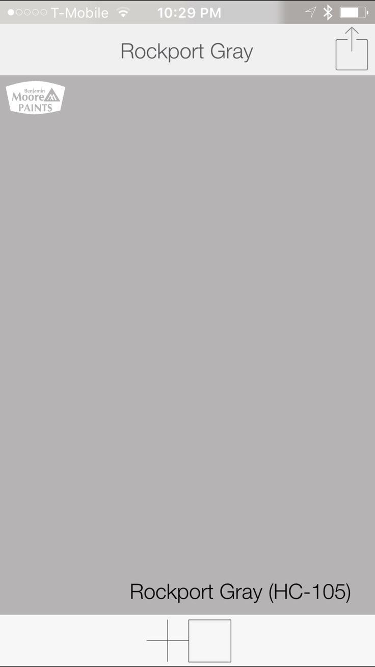 Rockport gray hc 105 paint benjamin moore rockport gray paint color - Warm Gray Color From Benjamin Moore Rockport Gray Hc 105 Swatchdeck Benjamin Moore Paintgray