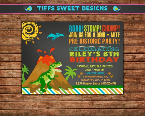 25 unique Dinosaur party invitations ideas – Dinosaur Party Invitation Wording