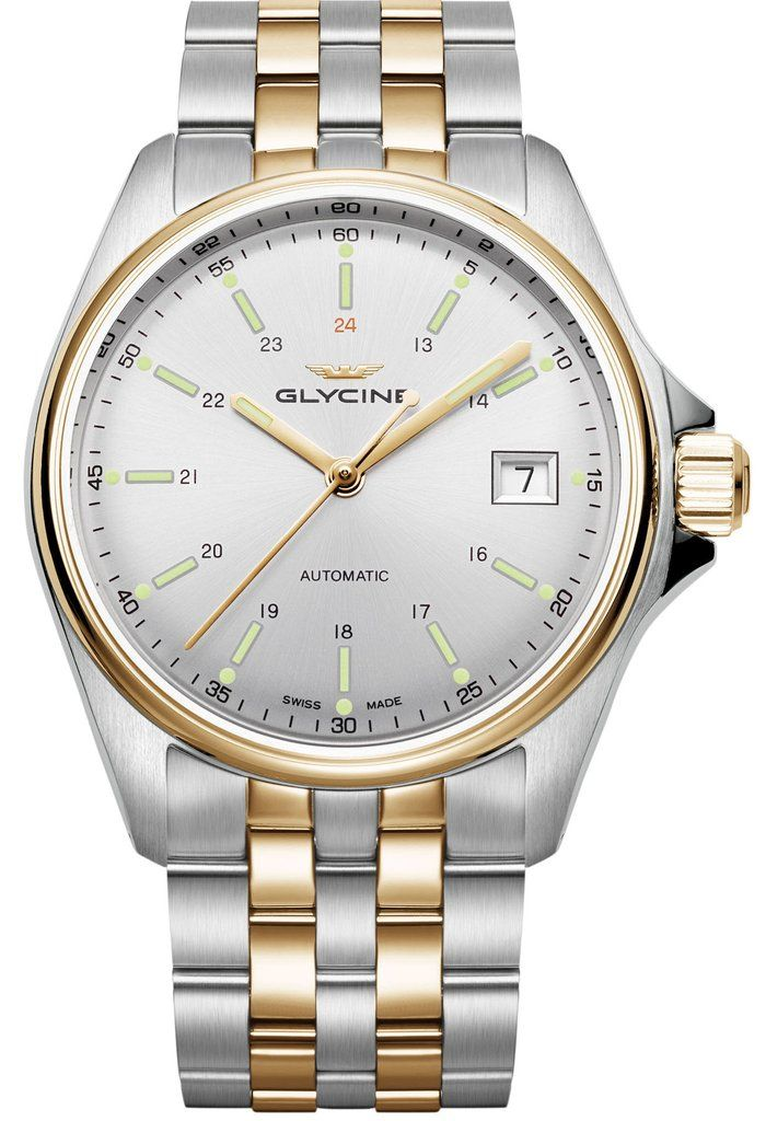 Glycine Watch Combat 6 Classic Pre-Order #add-content #basel-17 #bezel-fixed #bracelet-strap-gold #brand-glycine #case-material-steel #case-width-36mm #date-yes #delivery-timescale-call-us #dial-colour-silver #gender-mens #luxury #movement-automatic #new-