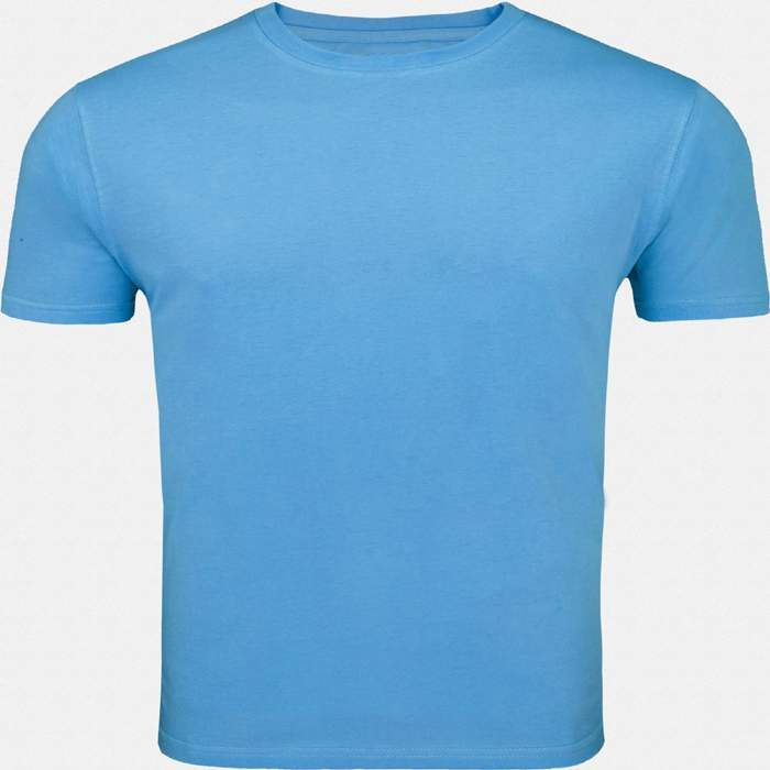 This Sky blue round necked, half-sleeved plain T-shirt gives a casual fit to you for all seasons. Wear this super-comfortable cotton T-shirt with denims and trousers or for a workout or even under a casual jacket.