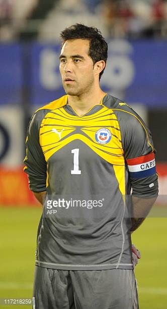 Chile's national football team goalie Claudio Bravo before their friendly match against Paraguay in Asuncion on June 23 2011AFP PHOTO Pablo Burgos