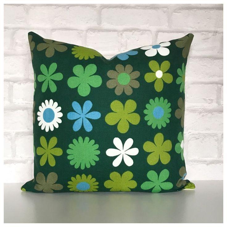 Vintage 1960s Genia Sapper Heidi Fabric Green Cushion Cover | Home, Furniture & DIY, Home Decor, Cushions | eBay!