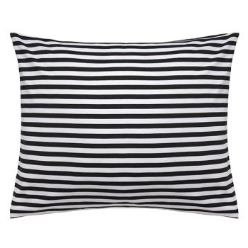 Marimekko's Tasaraita pillowcase, black-white