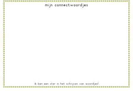 Schrijfbordje lezen: schrijf de CONNECT woordjes op dit schrijfbordje. Want: 'ik ben een ster in het schrijven van woordjes'