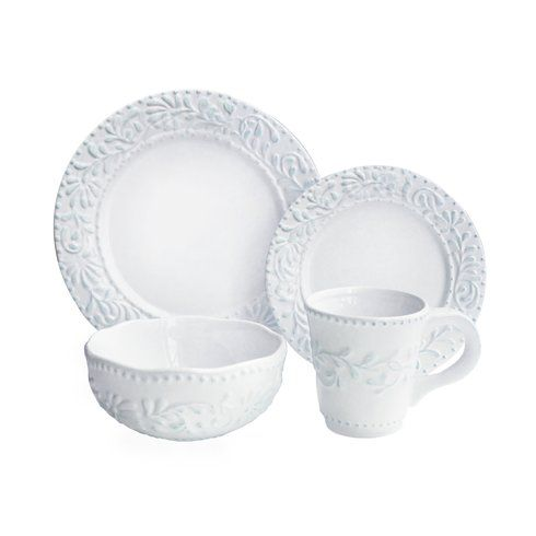 Suanne Leaf 16 Piece Dinnerware Set