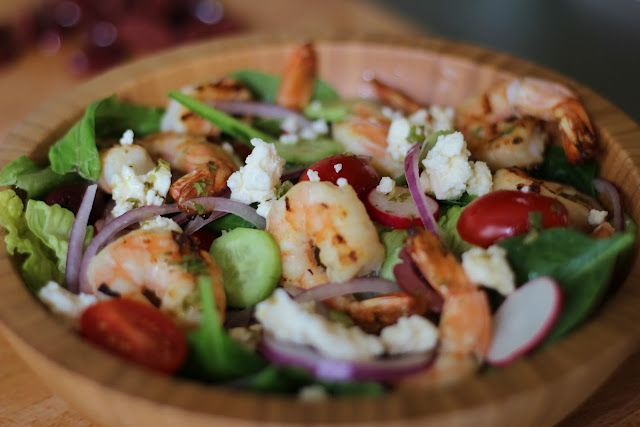 Sonoma Diet Greek Salad with/ Shrimp